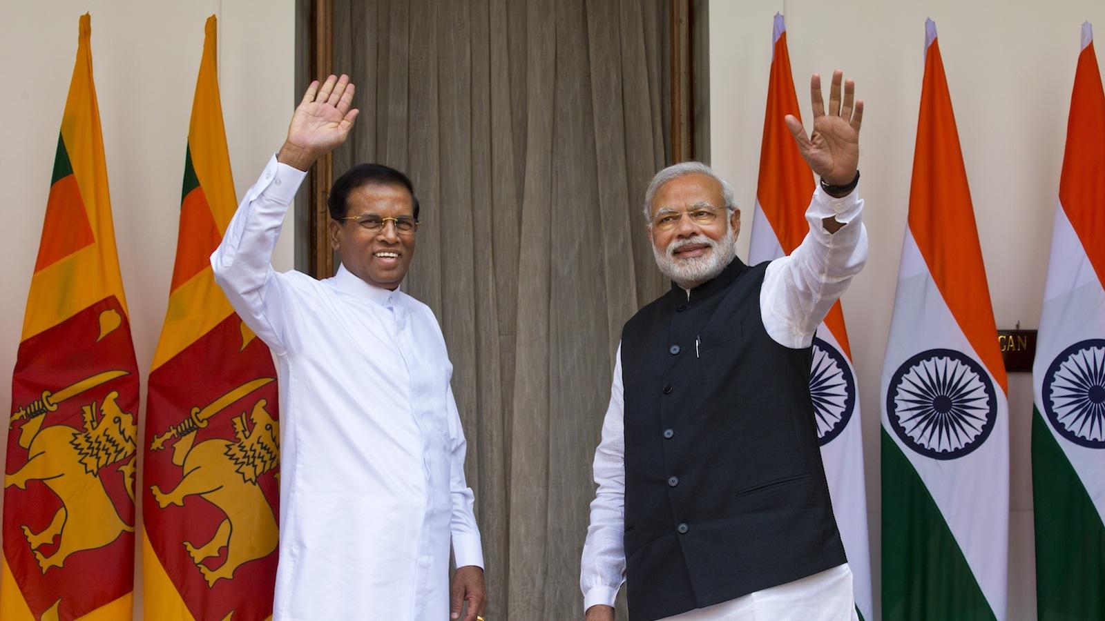 Sri Lanka-Narendra Modi-Mithripala Sirisena