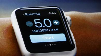 apple watch with run tracker