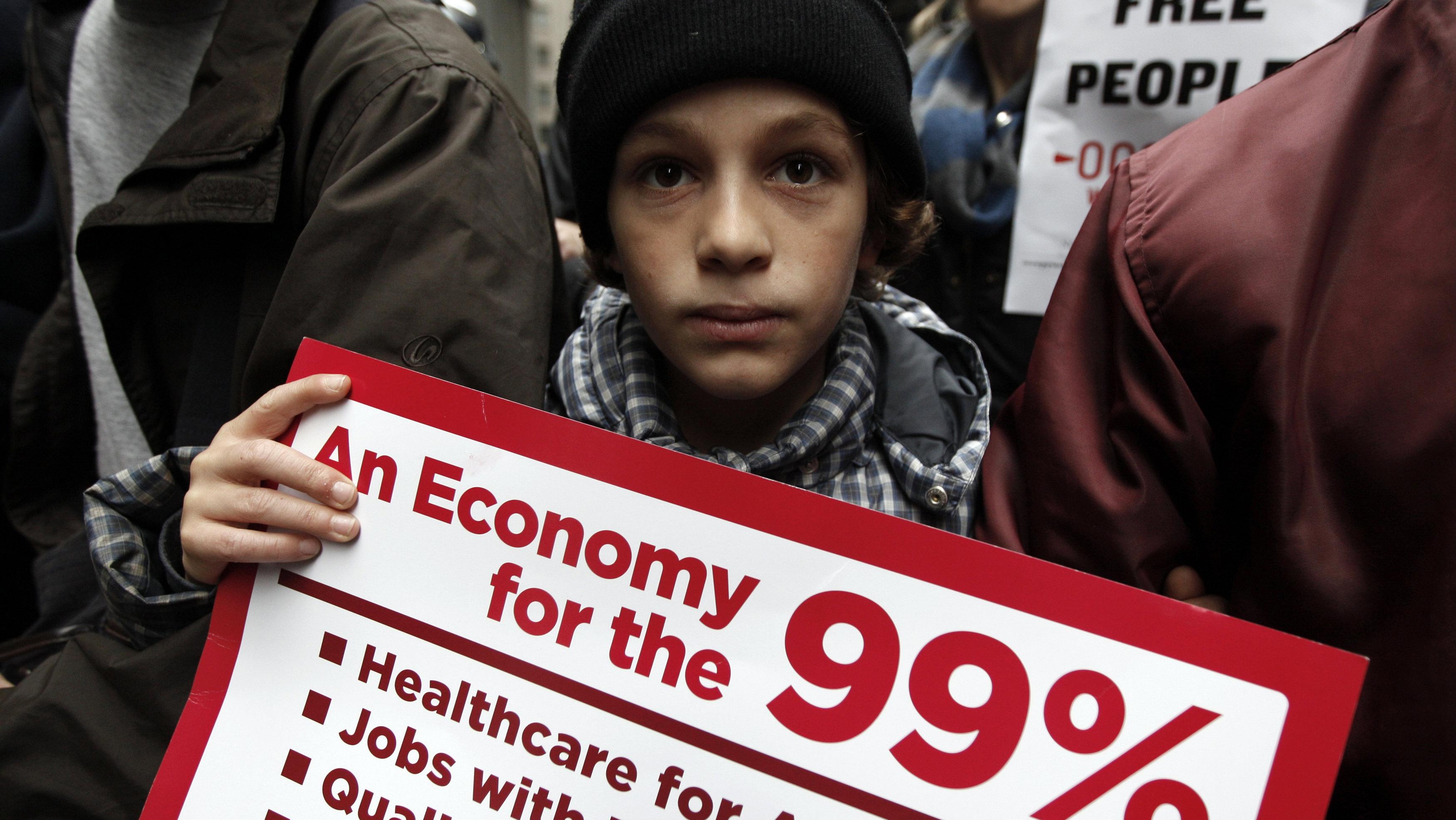 child protestor
