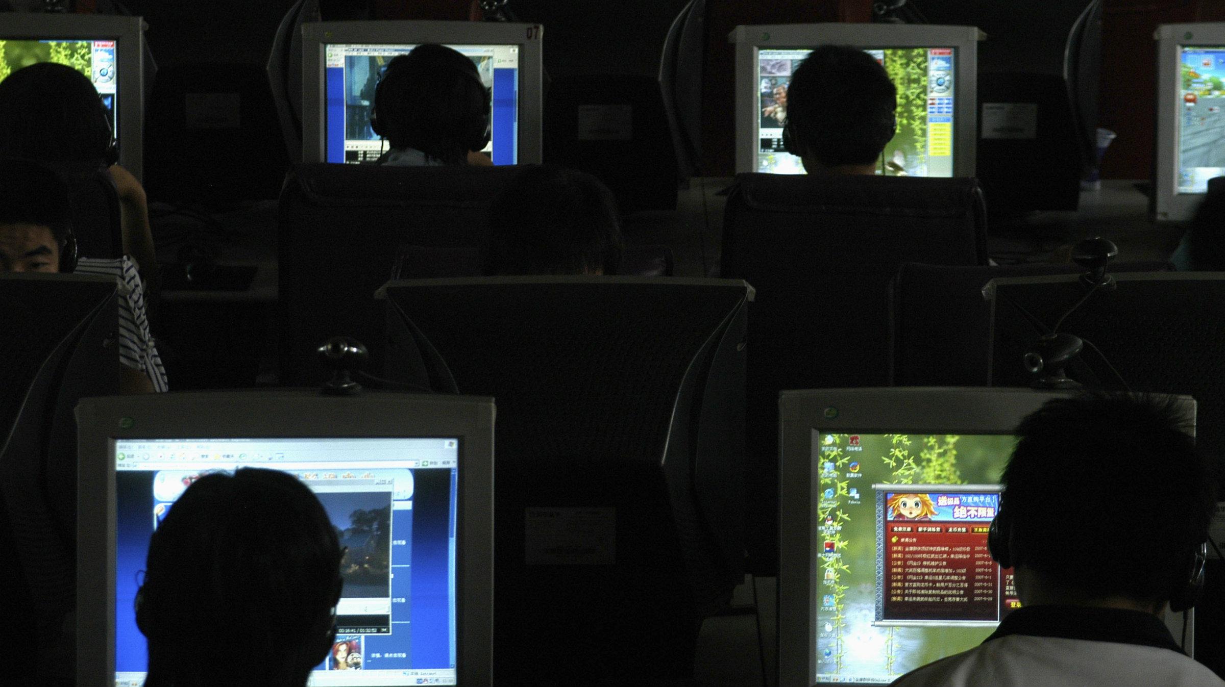 CHINA internet cafe