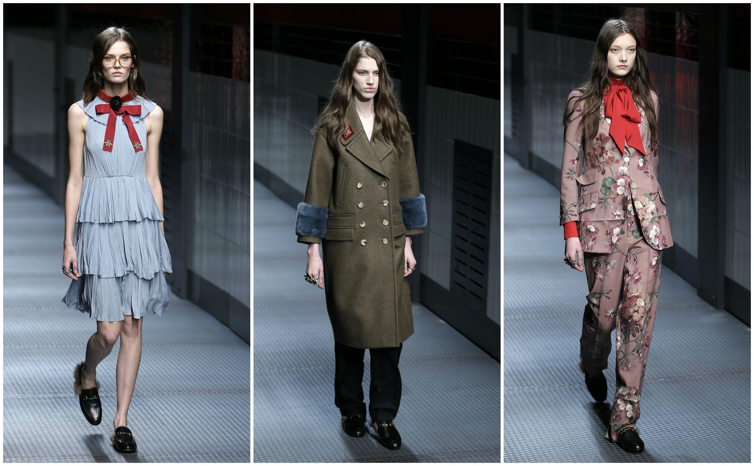 gucci, milan fashion week, fall 2015, alessandro michele, fashion, style, womenswear