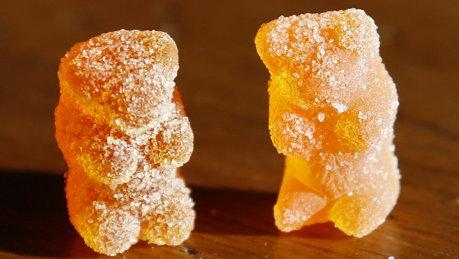 Gummy bear candy.