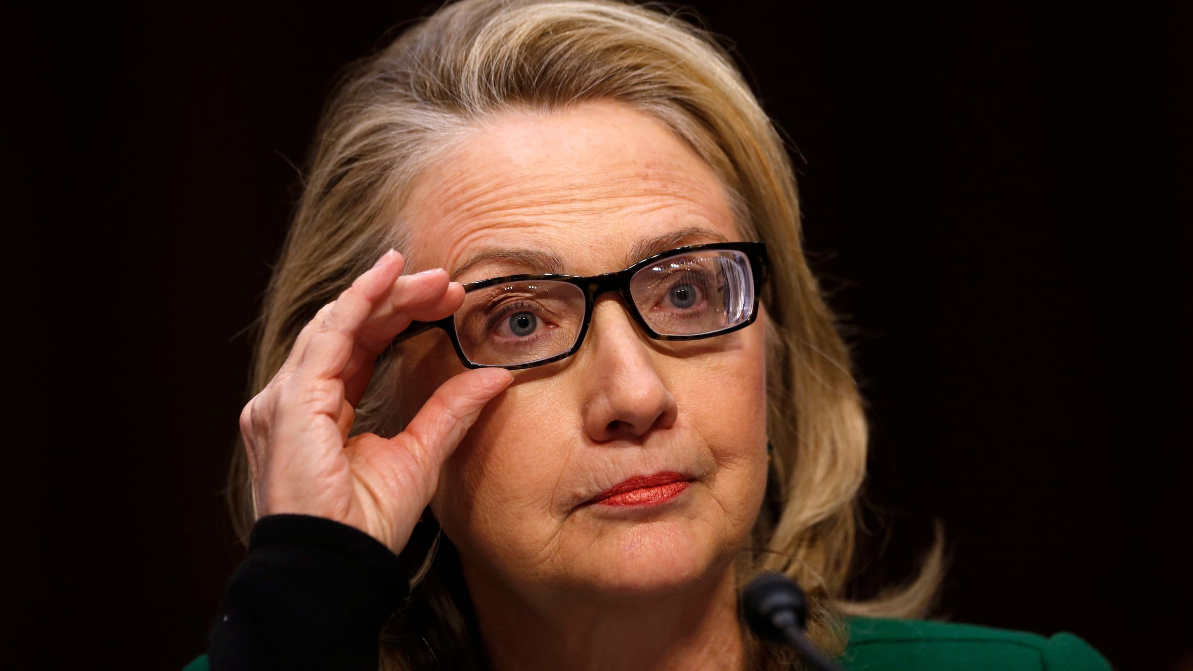 U.S.Secretary of State Hillary Clinton pauses while testifying on the September attacks on U.S. diplomatic sites in Benghazi, Libya, during a Senate Foreign Relations Committee hearing on Capitol Hill in Washington January 23, 2013.