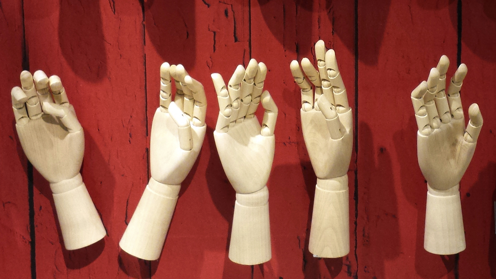 A display of mannequin hands, empty of Olympic themed mittens, is seen at a department store in downtown Toronto December 19, 2013. REUTERS/Chris Helgren  (CANADA - Tags: BUSINESS TEXTILE SPORT OLYMPICS) - RTX16OGQ
