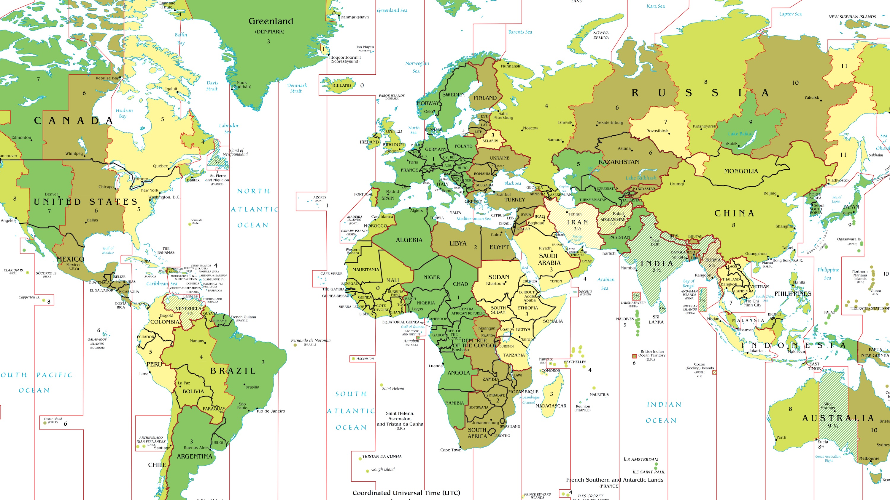 Image of: Time Zone Deviants Part I The Strangest Time Zones In The World Quartz