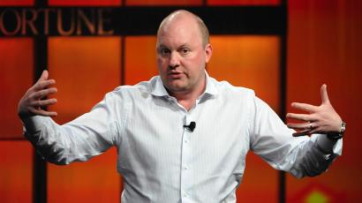 "Marc Andreessen, co-founder and general partner of Andreessen Horowitz, speaks during the ""The Future of Technology"" panel at the Fortune Tech Brainstorm 2009 in Pasadena, California July 22, 2009"