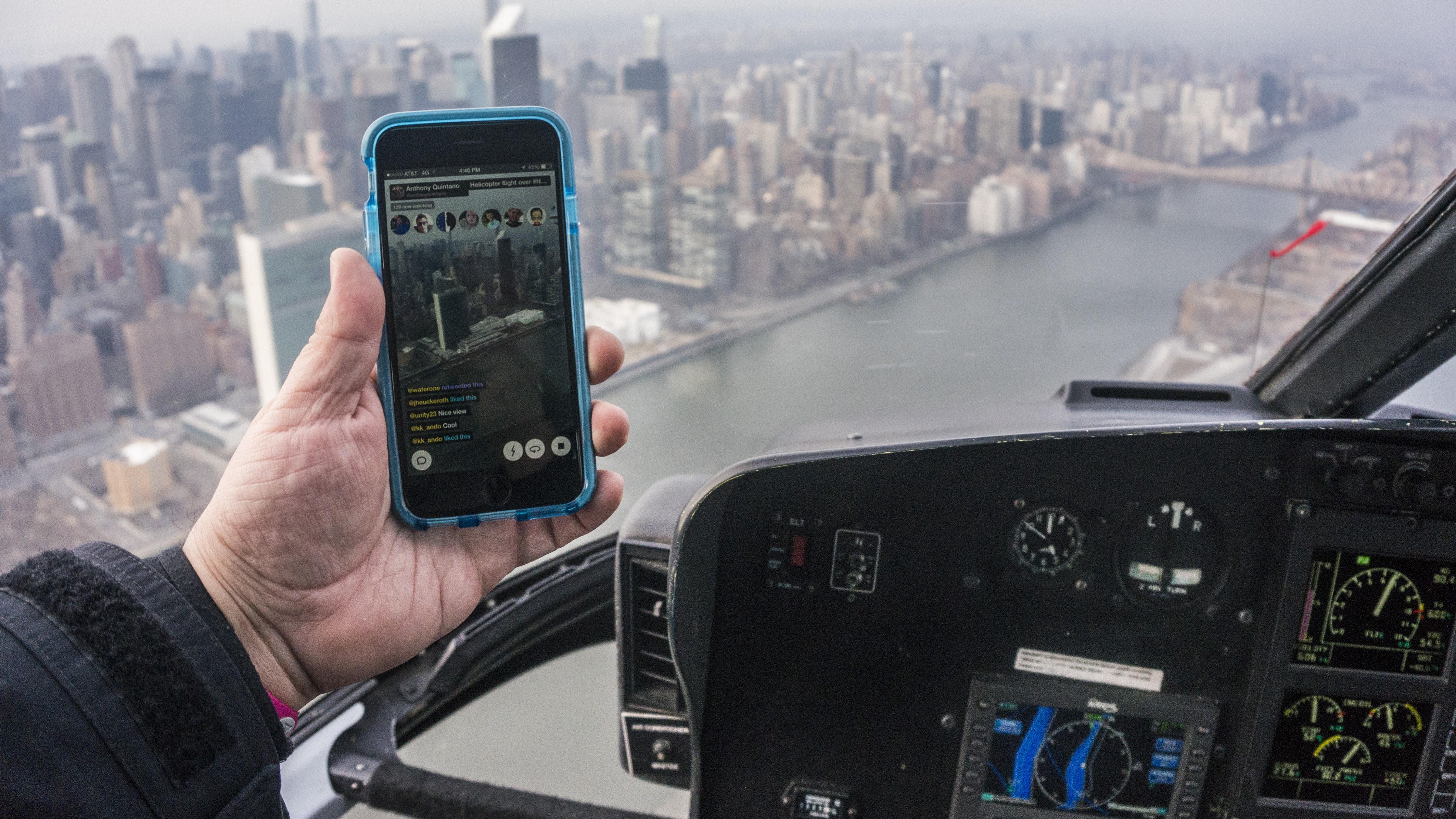 Meerkat NYC helicopter