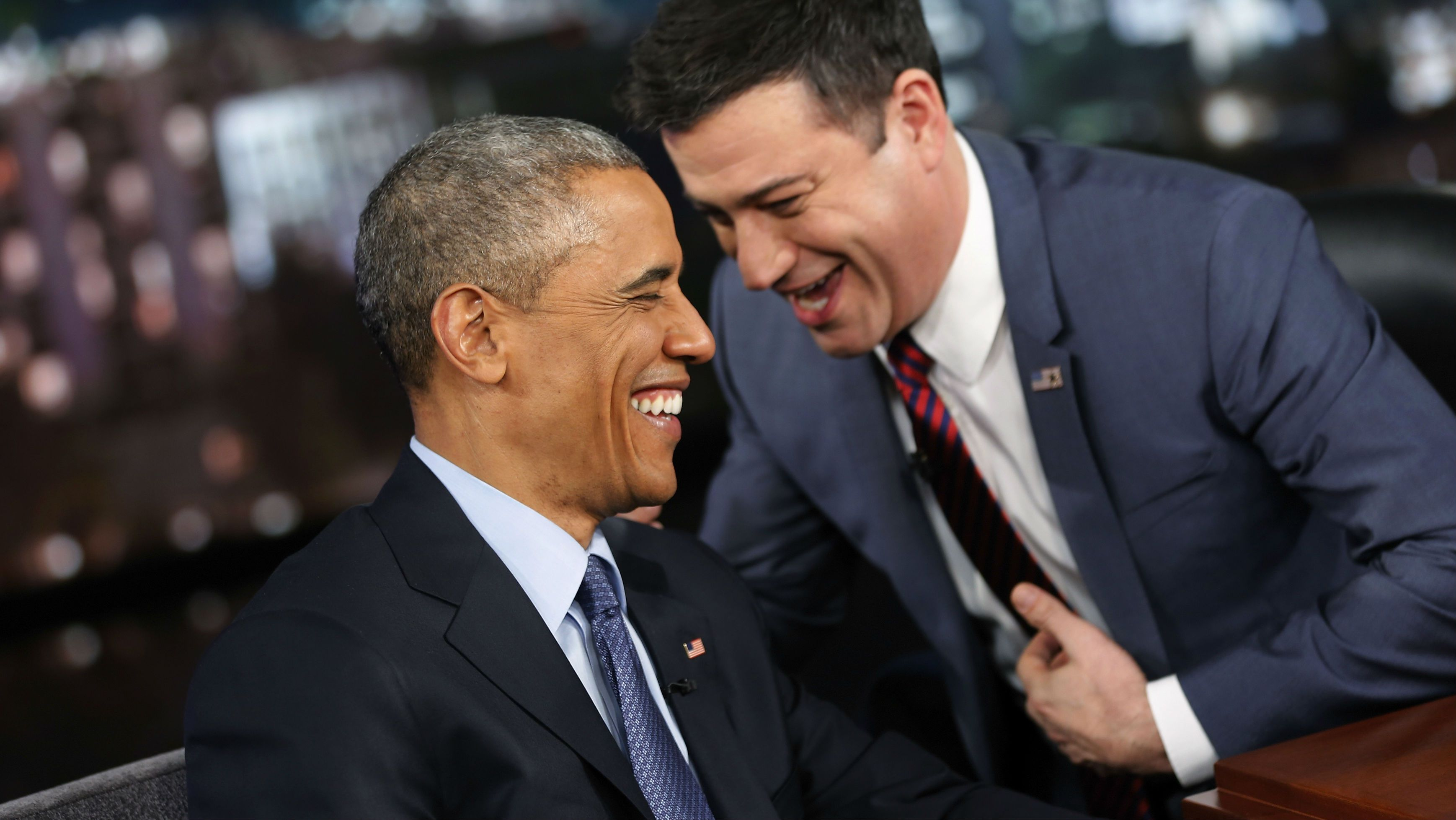 Barack Obama and Jimmy Kimmel