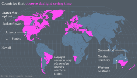 places that observe daylight savings