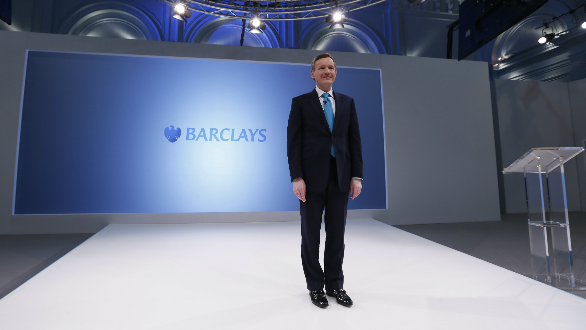 Barclays chief executive Antony Jenkins poses for the media in London.