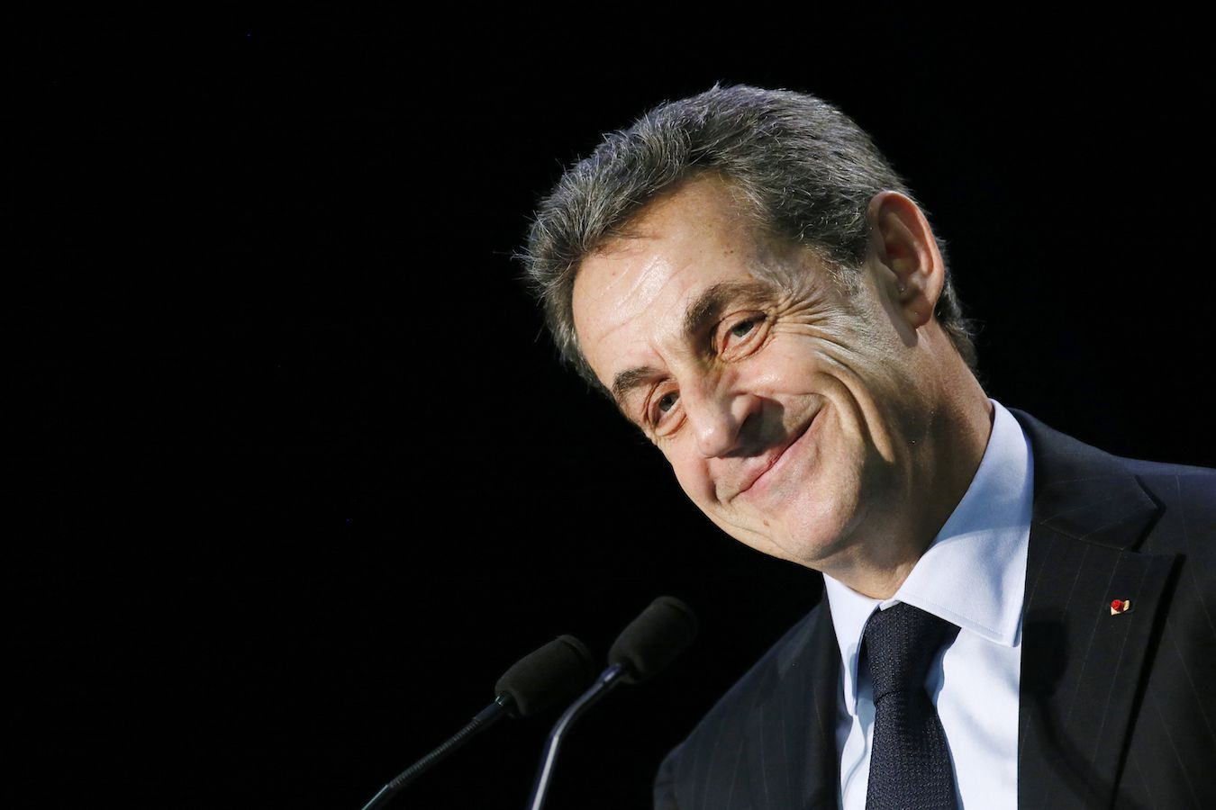 Nicolas Sarkozy, former French president and current UMP conservative political party head, attends a political rally in the Essonne department as he campaigns for French departmental elections in Palaiseau, near Paris, March 16, 2015. The two-round departmental elections will take place in France on March 22 and March 29.   REUTERS/Gonzalo Fuentes (FRANCE - Tags: POLITICS ELECTIONS PROFILE HEADSHOT) - RTR4TM30