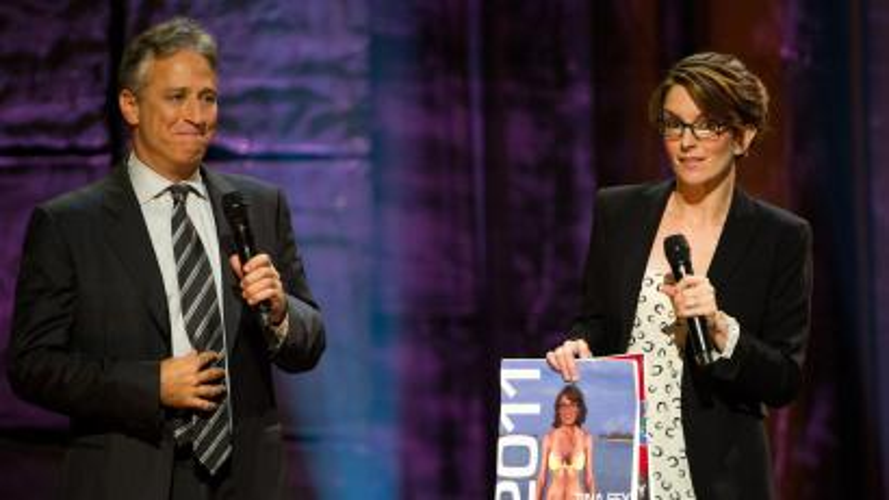 Jon Stewart and Tina Fey