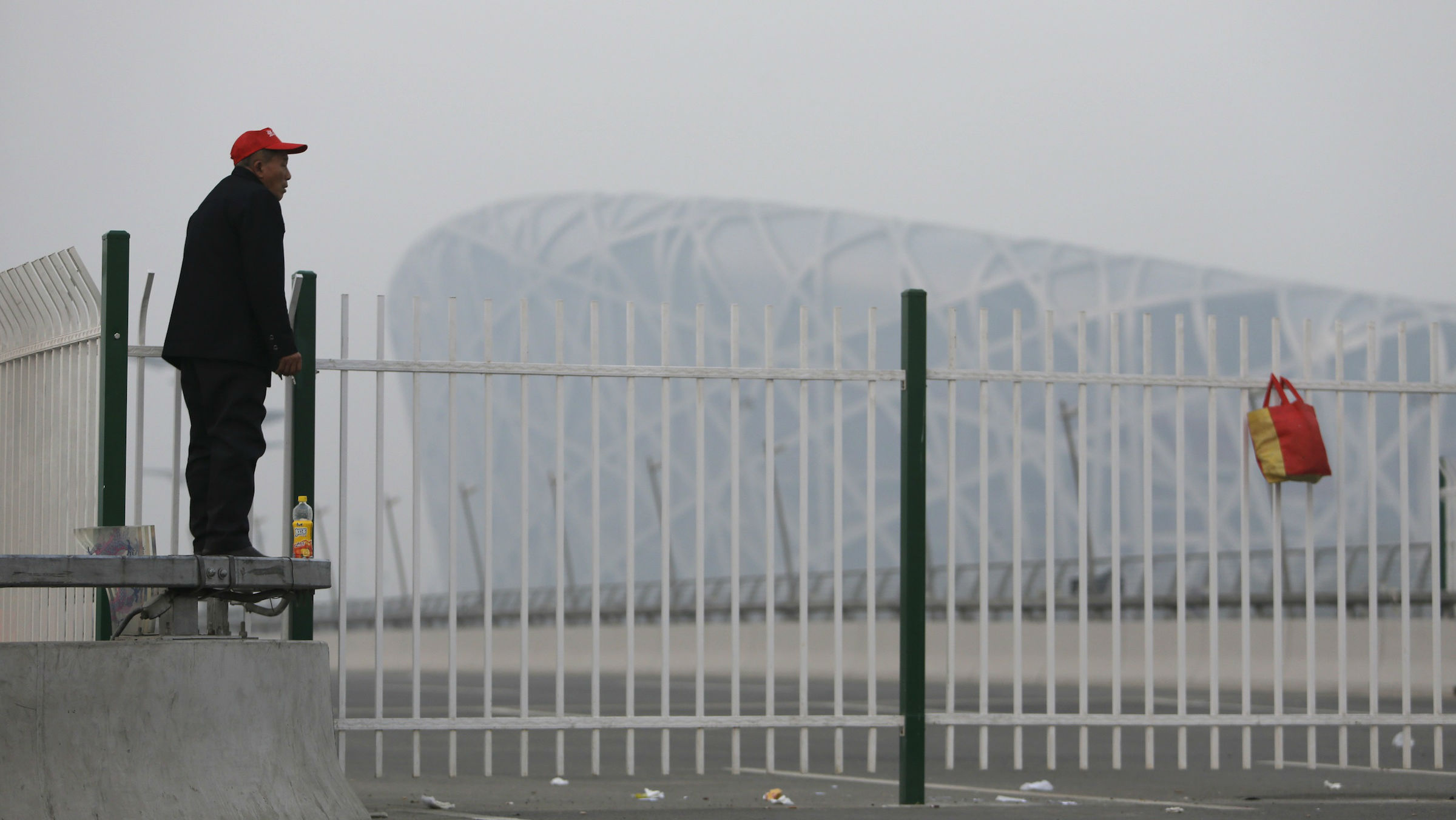 The National Olympic Stadium in Beijing