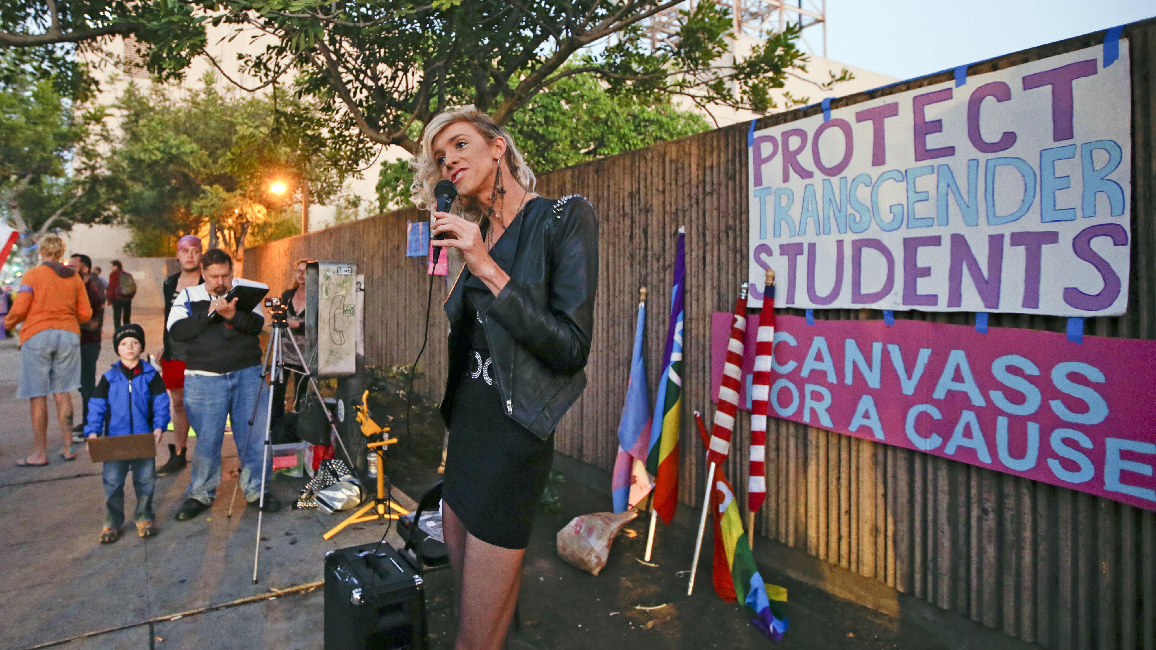 transgender student protest