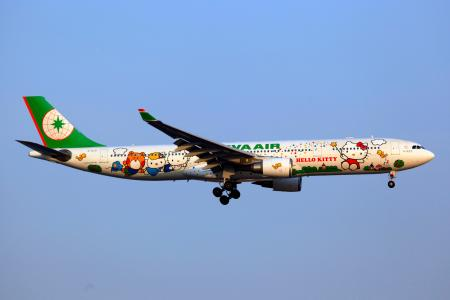 """Hello Kitty"" on Taiwan's EVA Air"