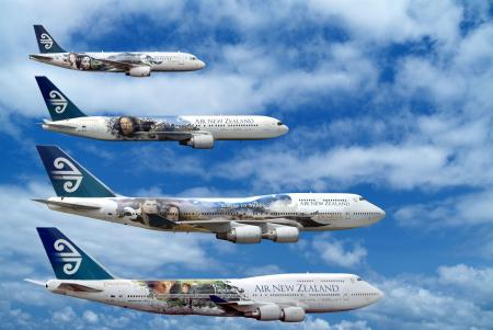 Lord of the Rings Air New Zealand
