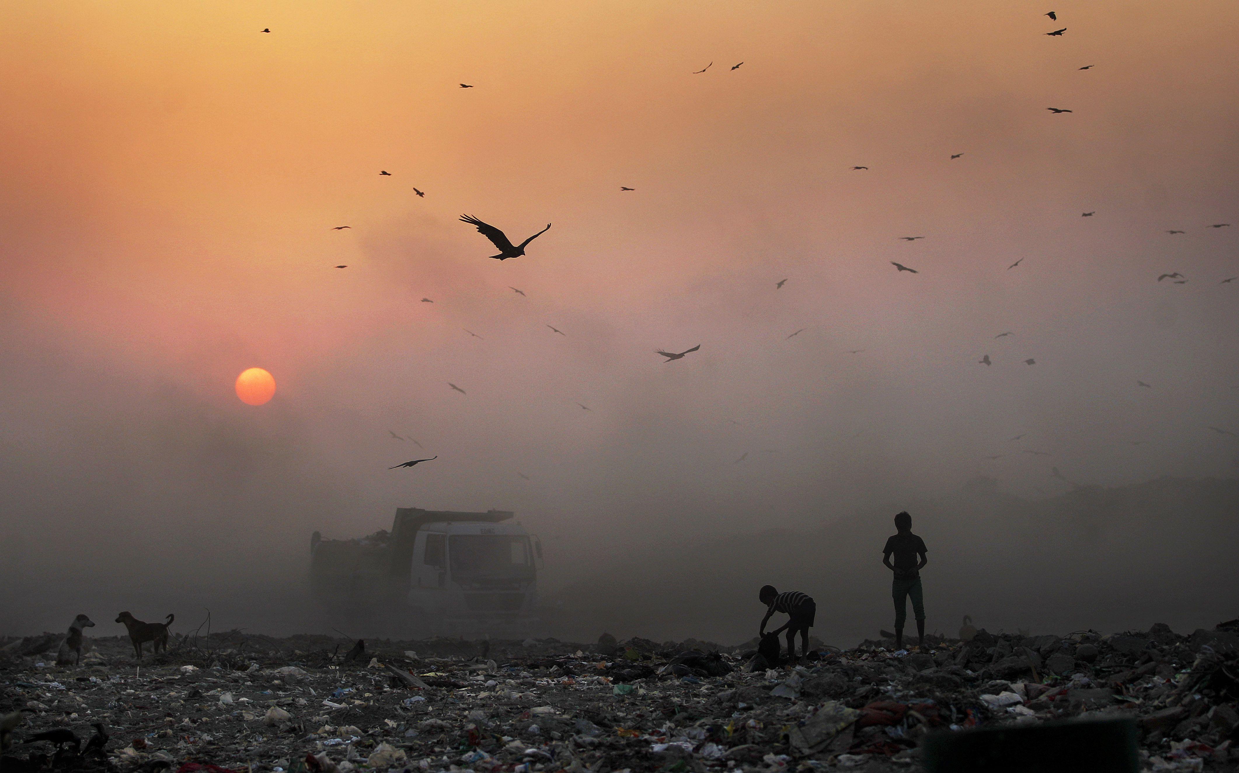 Landfill in India