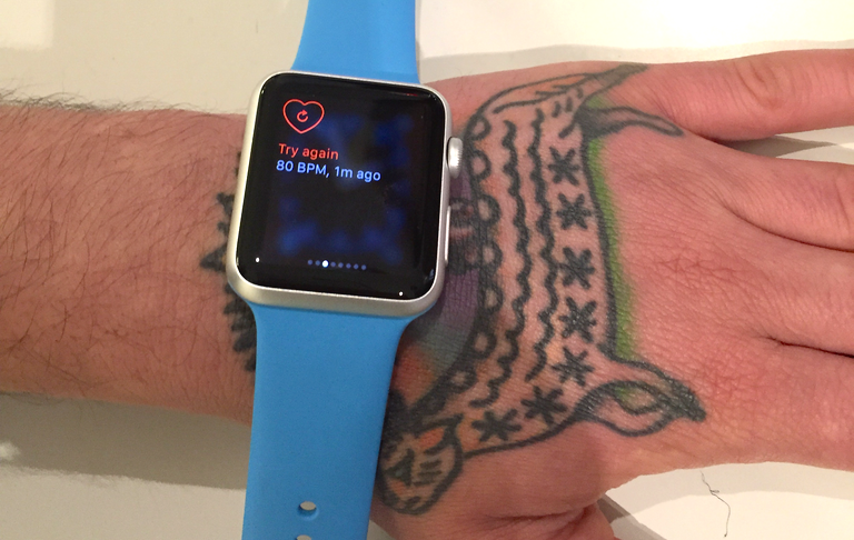 People with tattoos report the Apple Watch is having trouble