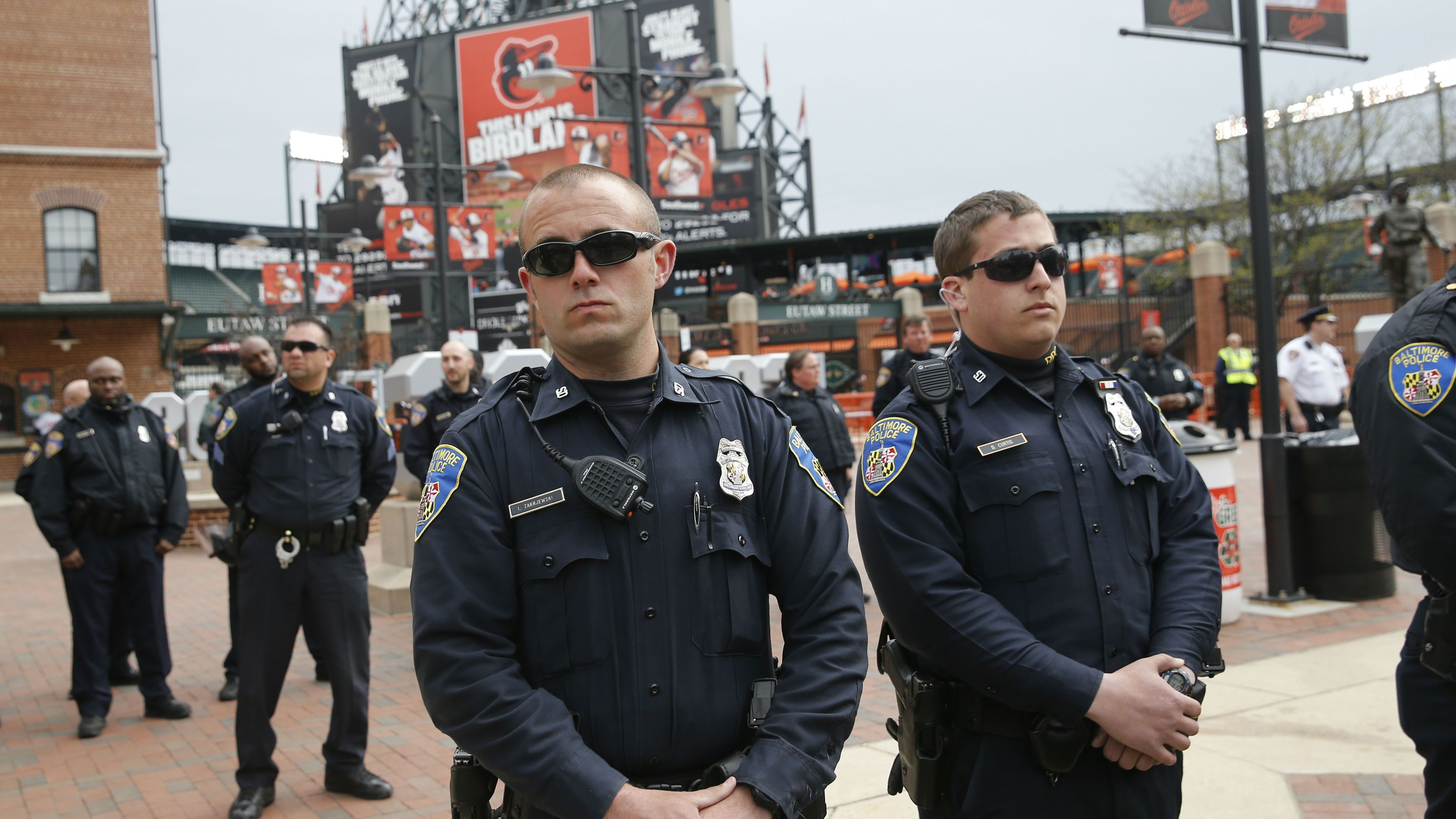 Baltimore Orioles protests Camden Yards