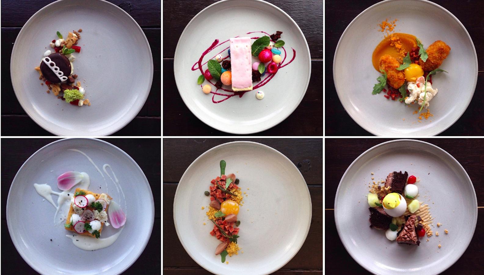 photos instagram chef parodies michelin style plating with junk food masterpieces quartz. Black Bedroom Furniture Sets. Home Design Ideas