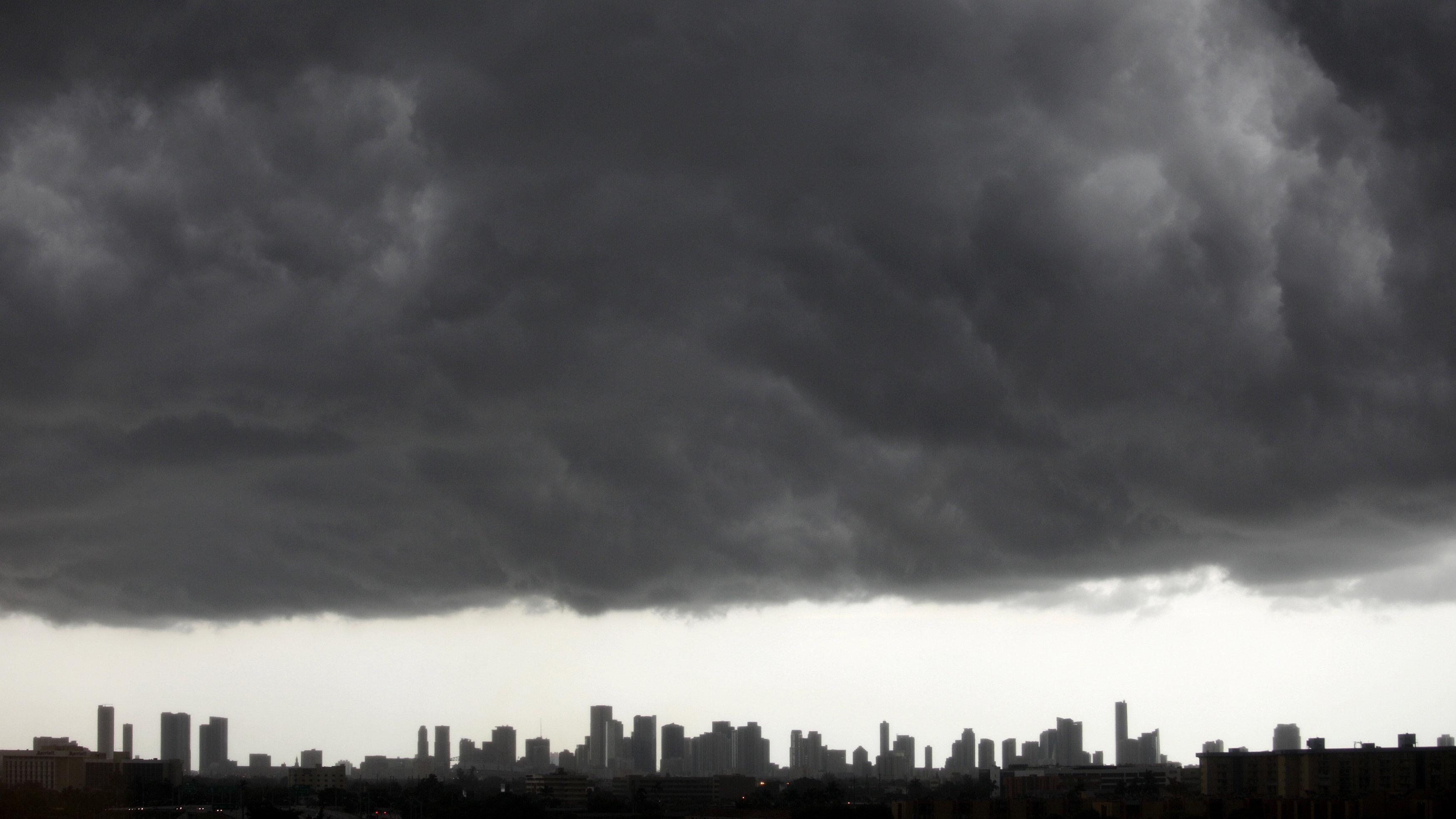 clouds over miami