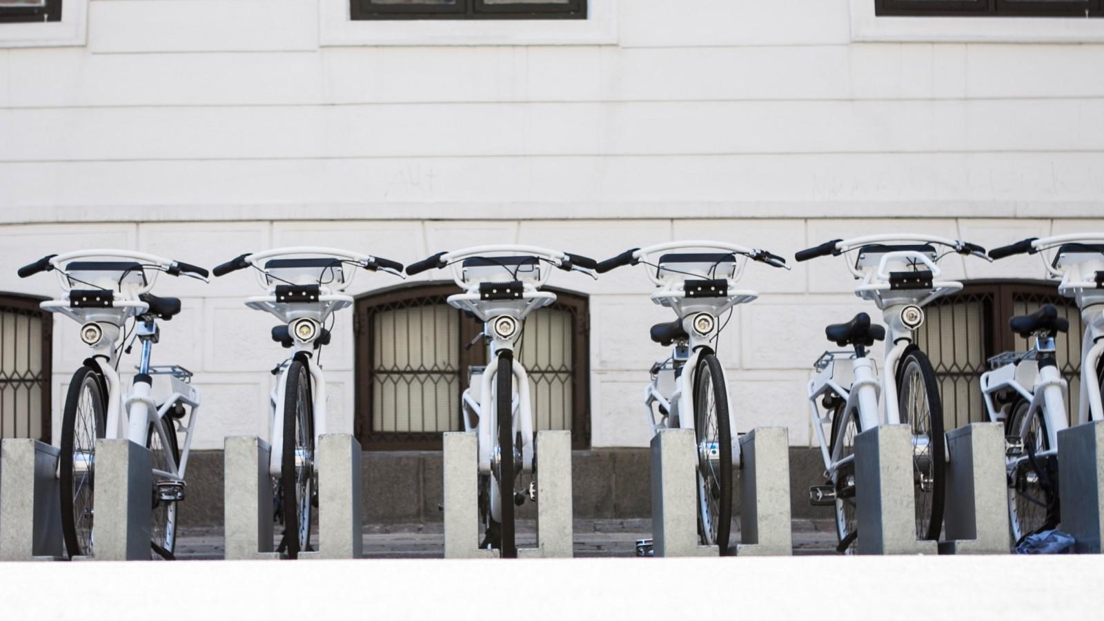 Copenhagen bike share scheme.