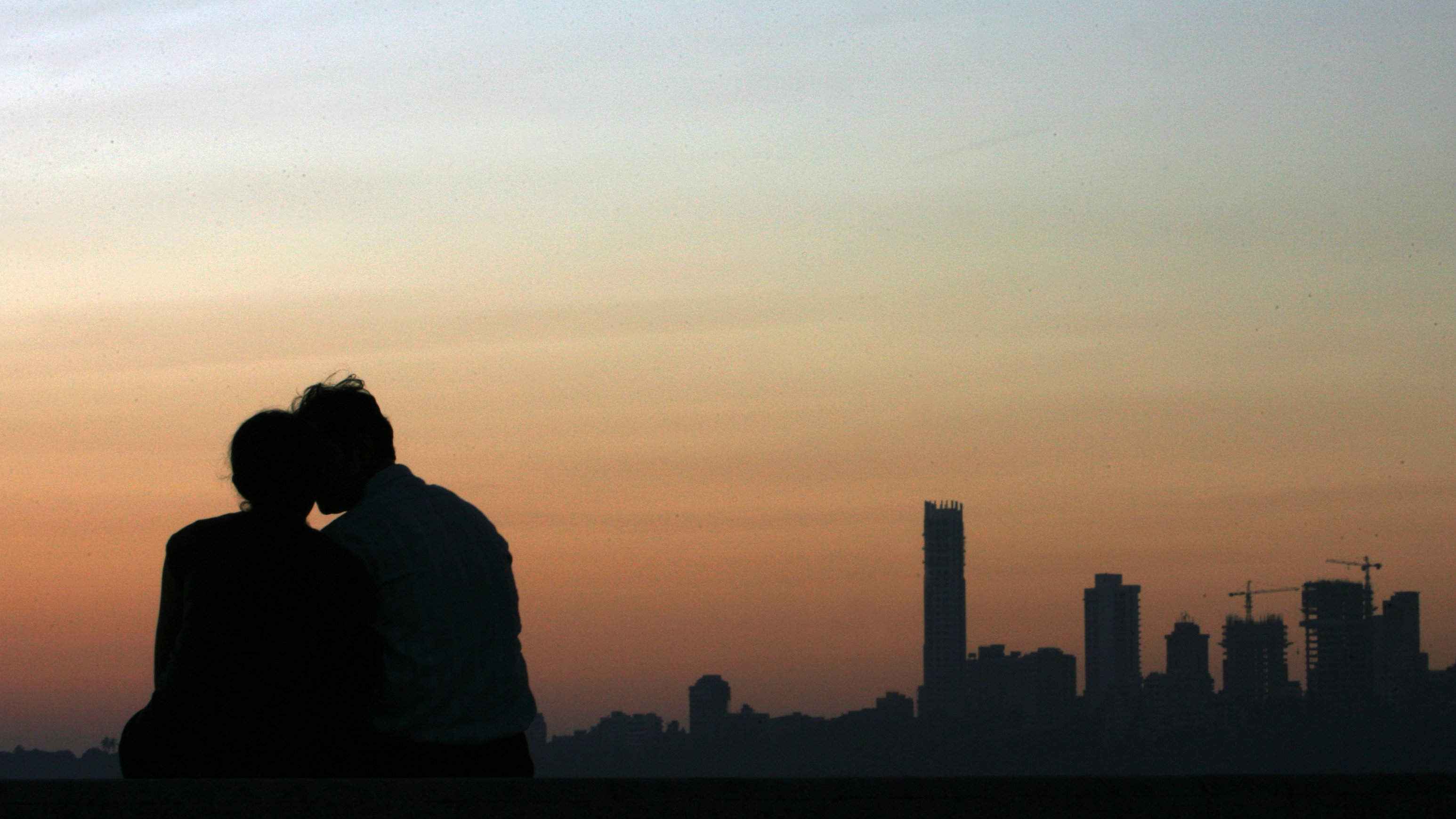 couple with skyline