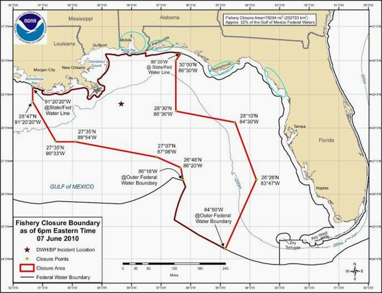 fishery closure map