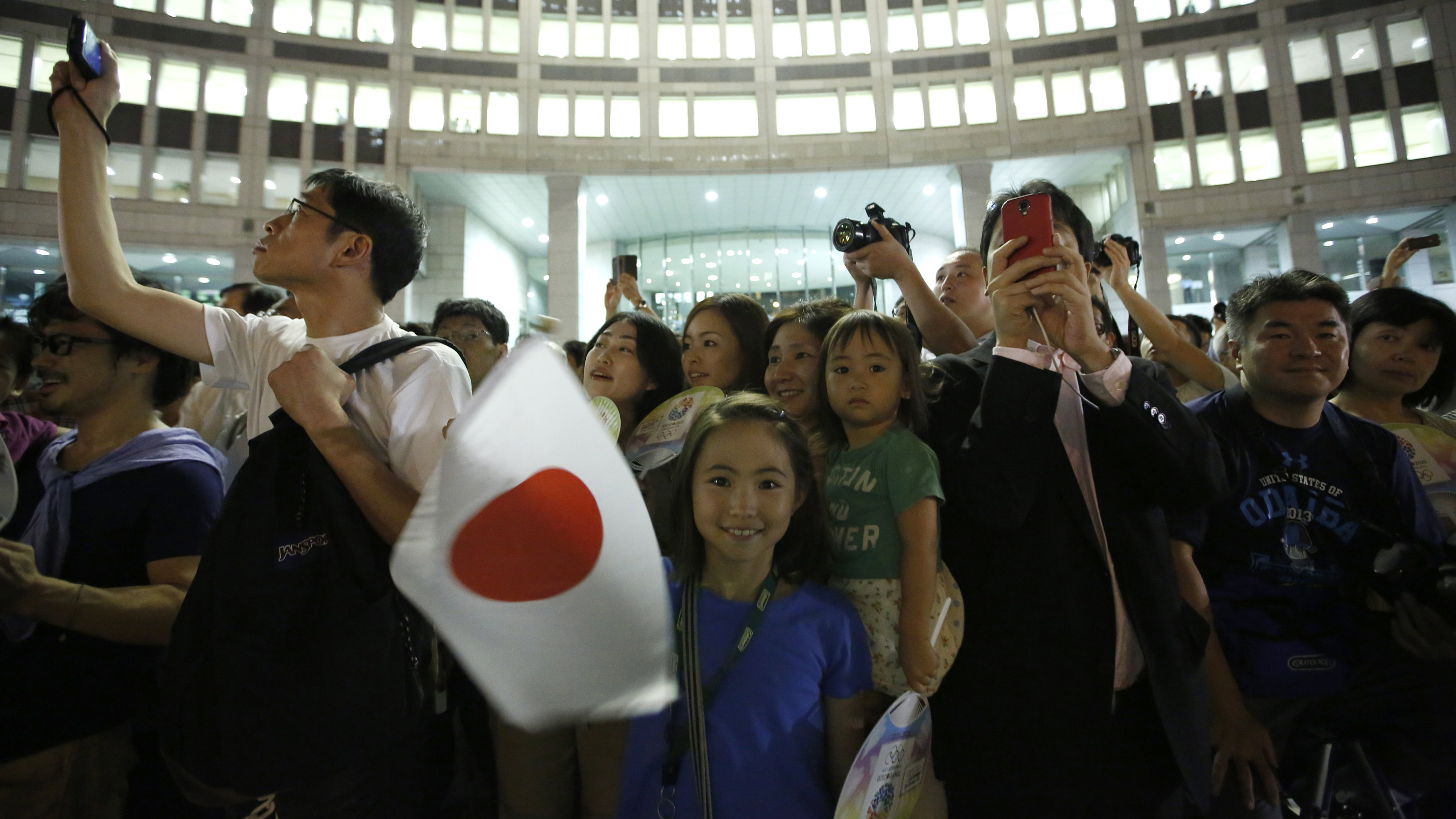 girl with japanese flag
