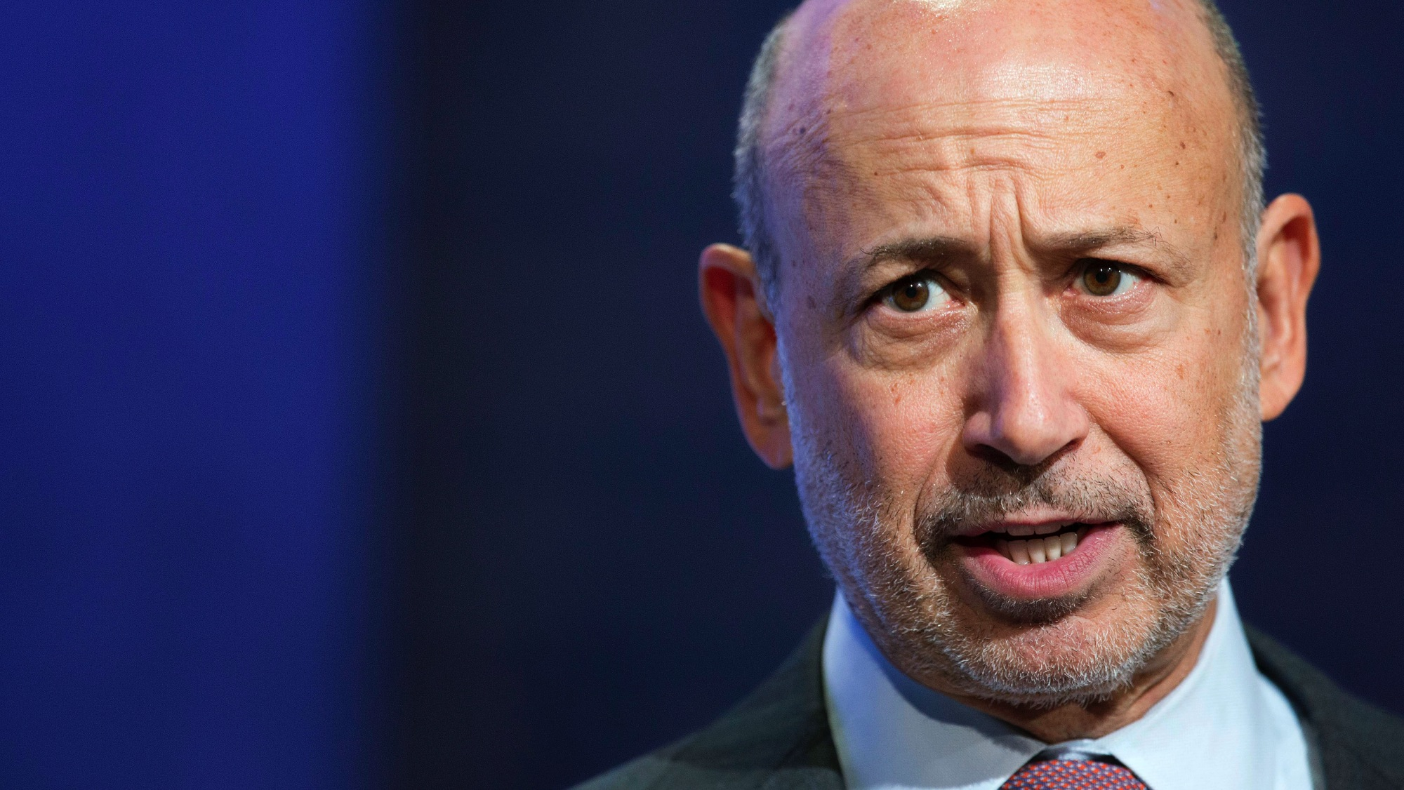 FILE - In this Sept. 24, 2014 file photo, Lloyd Blankfein, Chairman and CEO of Goldman Sachs, speaks during a panel discussion at the Clinton Global Initiative, in New York. The Goldman Sachs Group Inc. releases quarterly results before the market opens Thursday, Oct. 16, 2014.