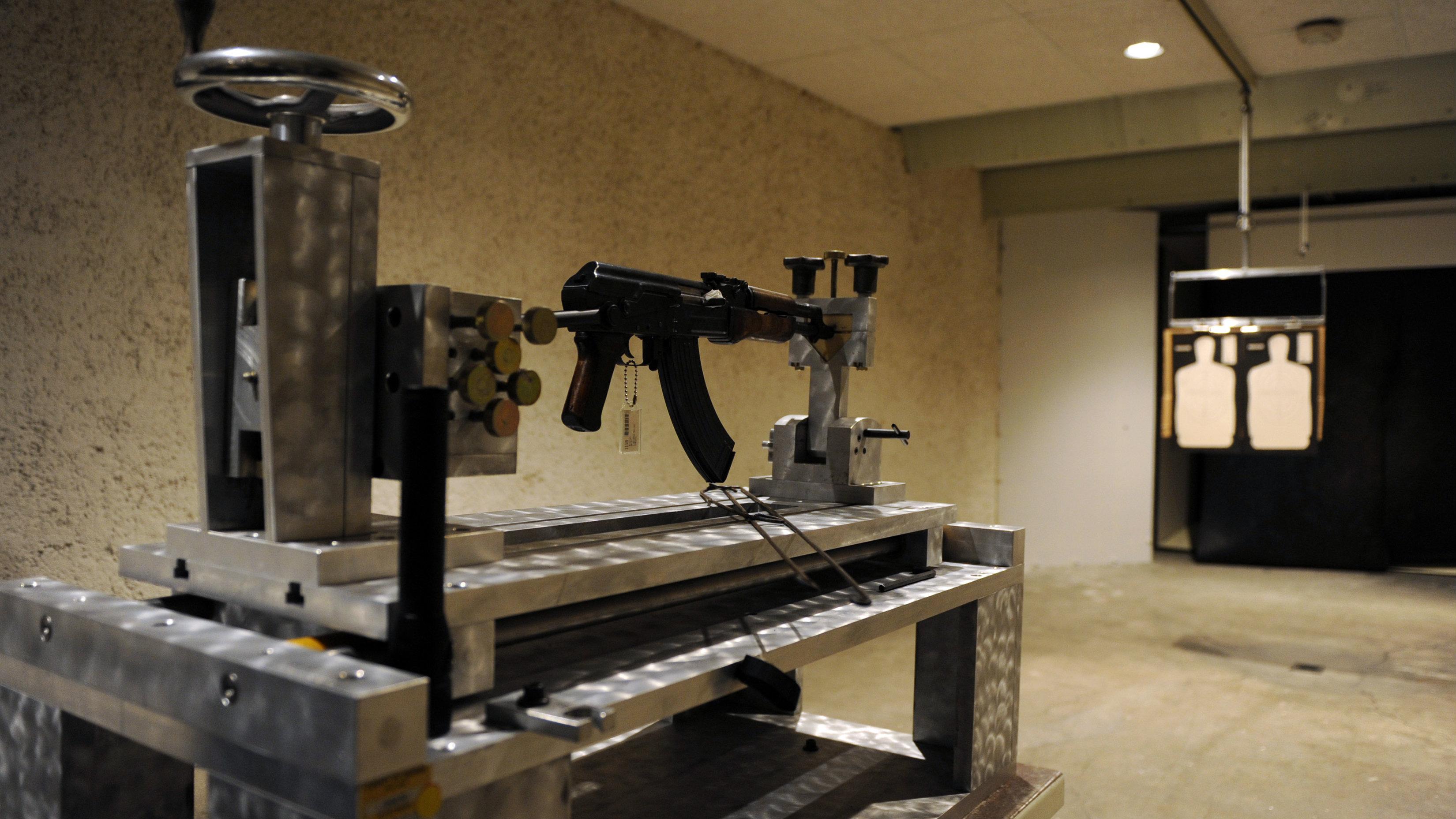 gun aimed at target