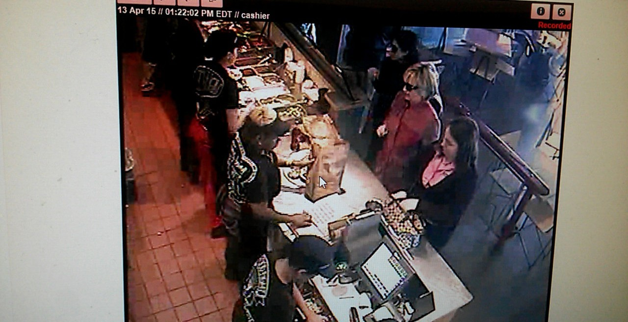 Hillary ordering from Chipotle