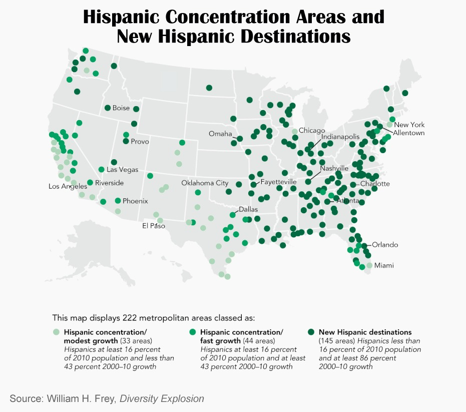hispanic concentration areas