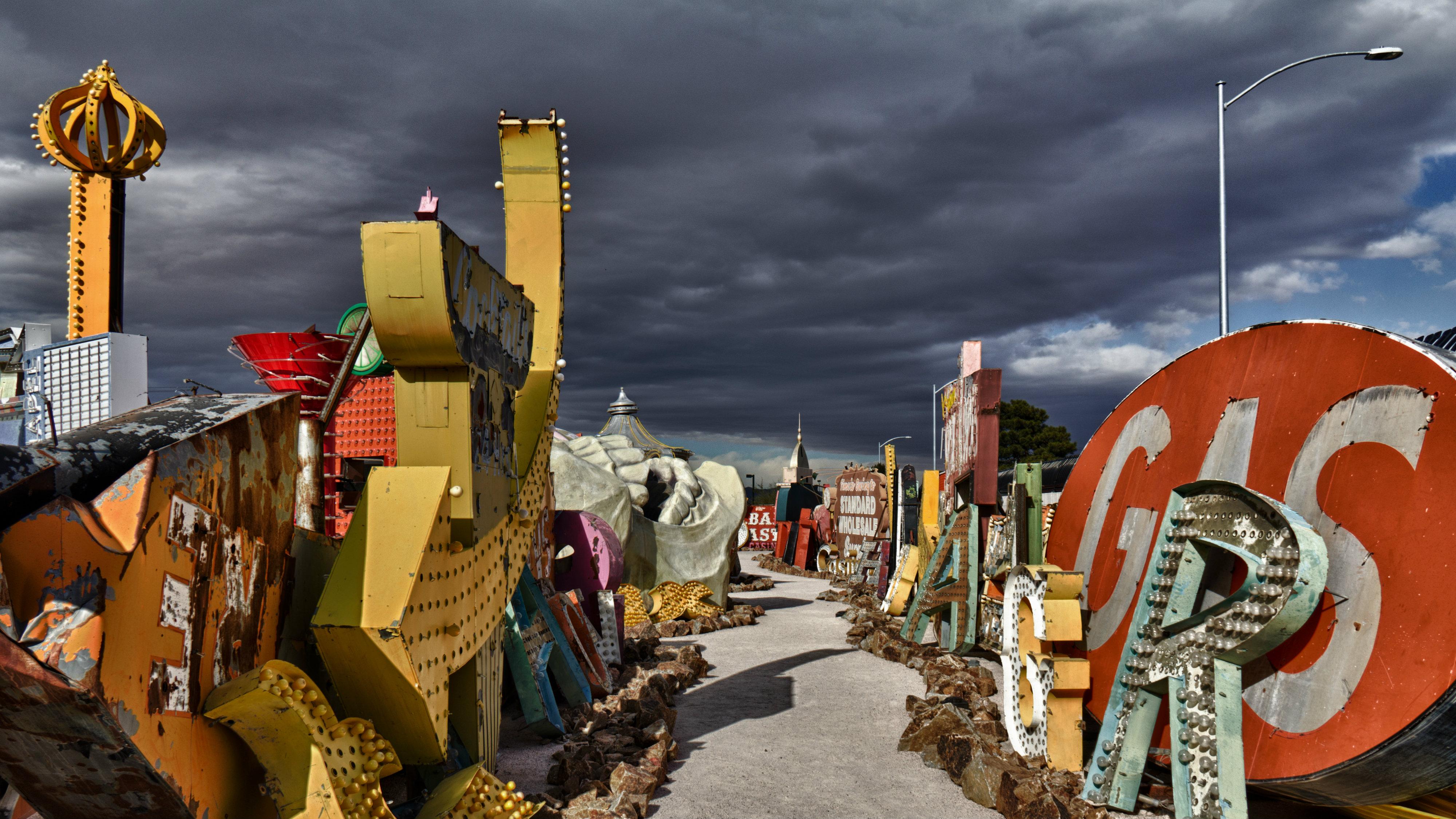 The Neon Museum's boneyard