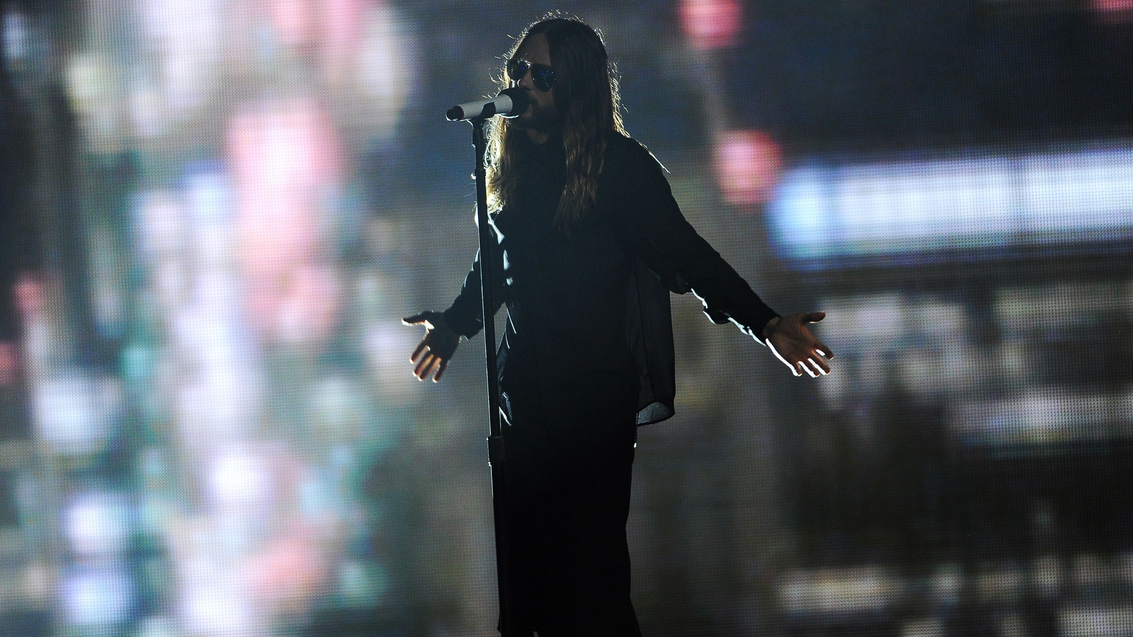 ared Leto performs at the iHeartRadio Music Awards at the Shrine Auditorium on Thursday, May 1, 2014, in Los Angeles.