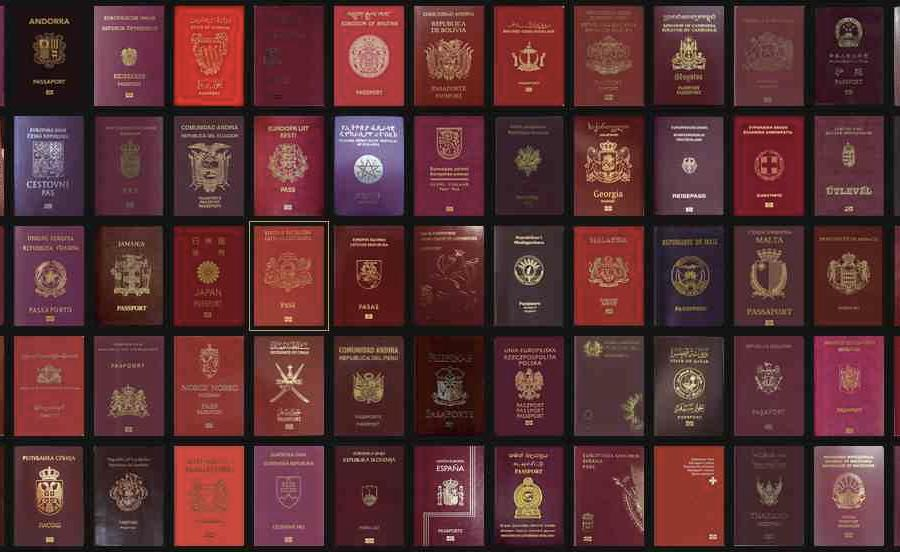 Nigerian, Ethiopian and Somali passports have the least