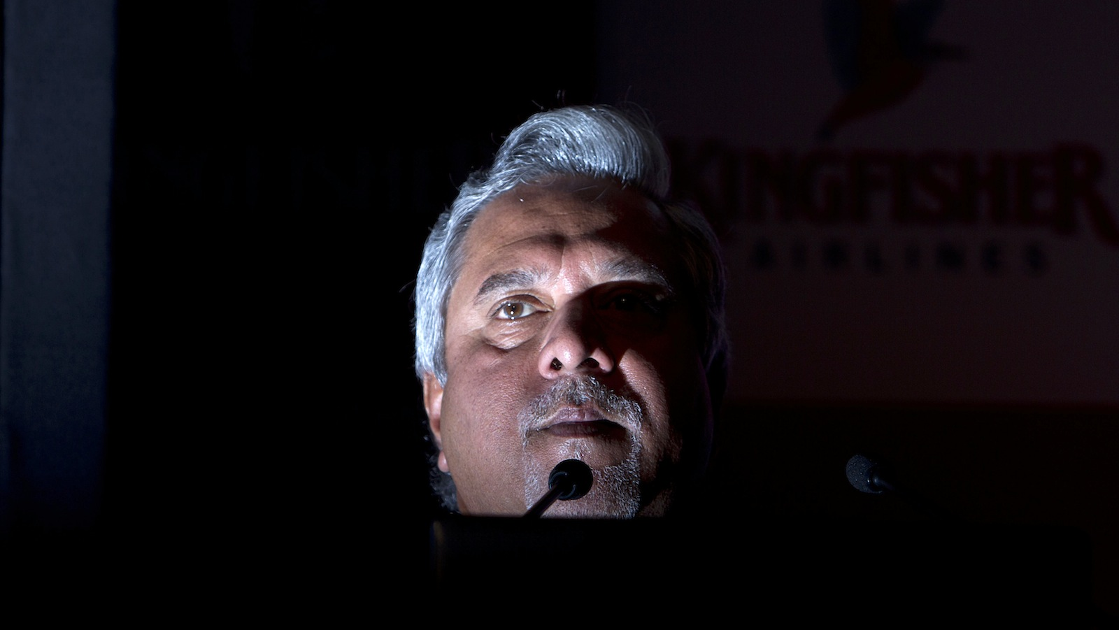 Kingfisher Airlines Chairman Vijay Mallya speaks to the media during a news conference in Mumbai November 15, 2011. India's cash-strapped Kingfisher Airlines doubled its loss in the September quarter on higher fuel prices and operating costs amid investor worries about its ability to remain aloft in a fast-growing but loss-making industry.