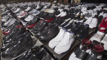 f5964024da1df A collection of the Nike Air Jordan Retro line is pictured at the