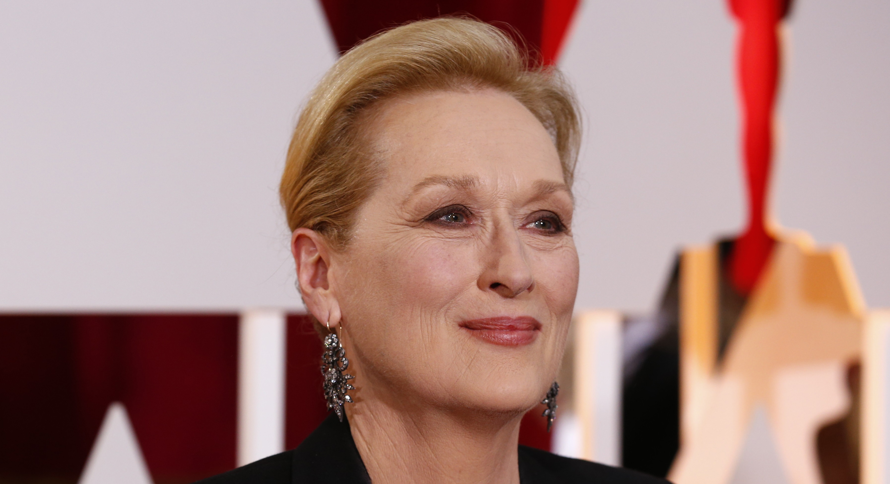 "Actress Meryl Streep, best supporting actress nominee for her role in ""Into the Woods"" arrives at the 87th Academy Awards in Hollywood, California February 22, 2015.  REUTERS/Lucas Jackson (UNITED STATES TAGS:ENTERTAINMENT) (OSCARS-ARRIVALS) - RTR4QP8C"