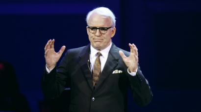 """Actor Steve Martin speaks during the """"James Taylor at Carnegie Hall"""" gala in 2011."""
