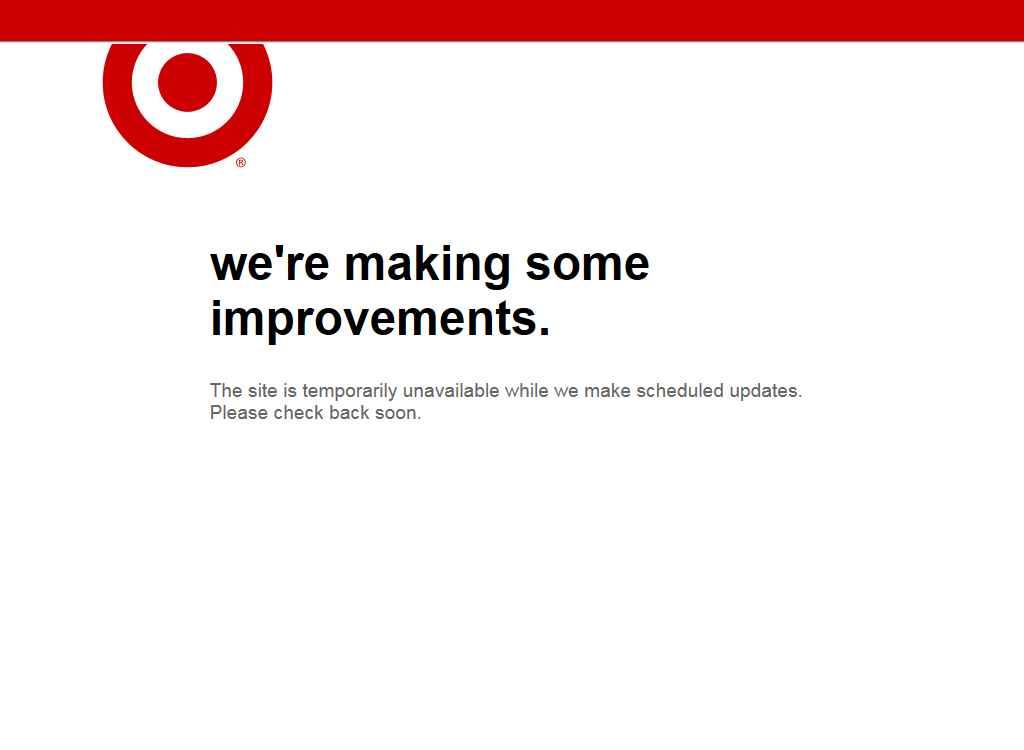 Target's homepage on 4/19