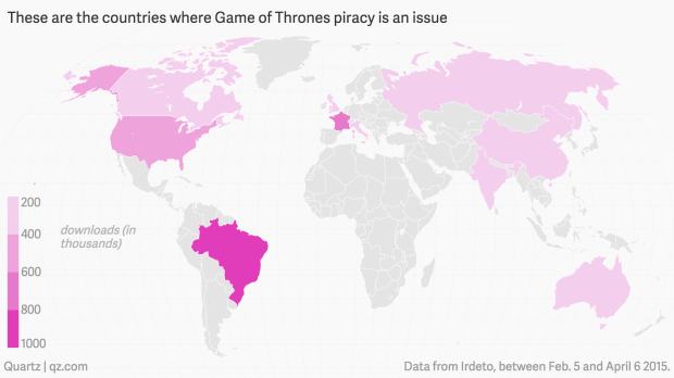 Earth has a game of thrones pirating problem quartz in short piracy of the show is a global phenomenon by airing new episodes at the same time in many parts of the world hbo and its partner networks hoped gumiabroncs Gallery
