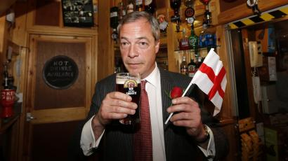 United Kingdom Independence Party (UKIP) leader Nigel Farage.