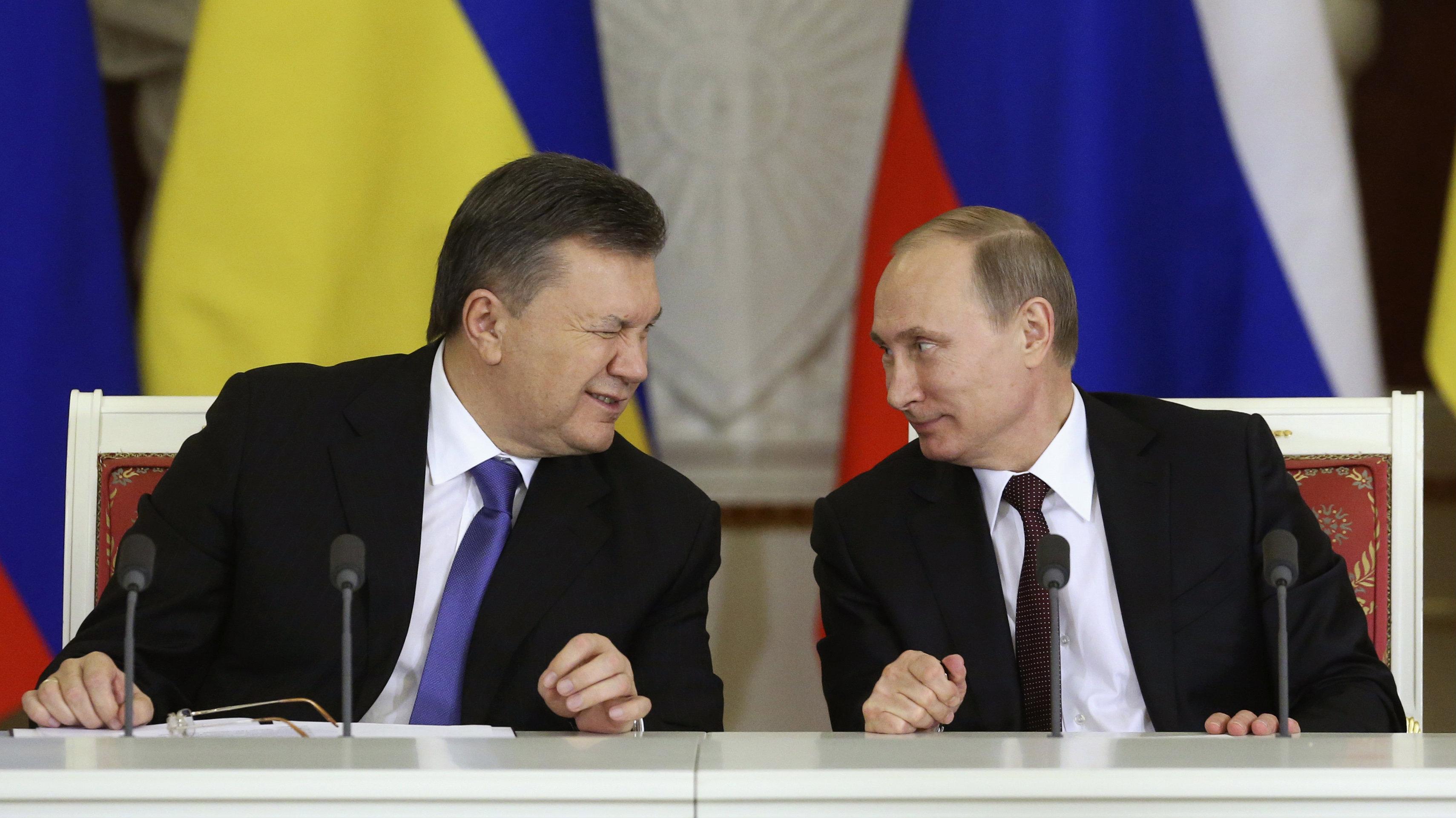 ukraine pres winking at putin