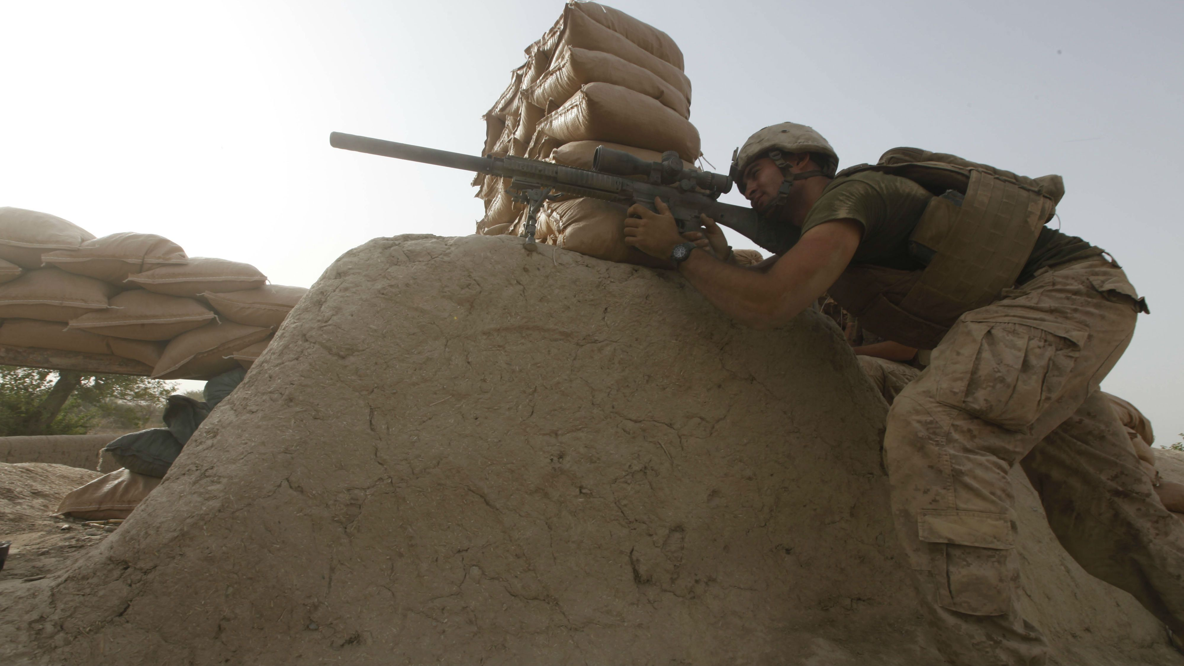 US Marine scout sniper