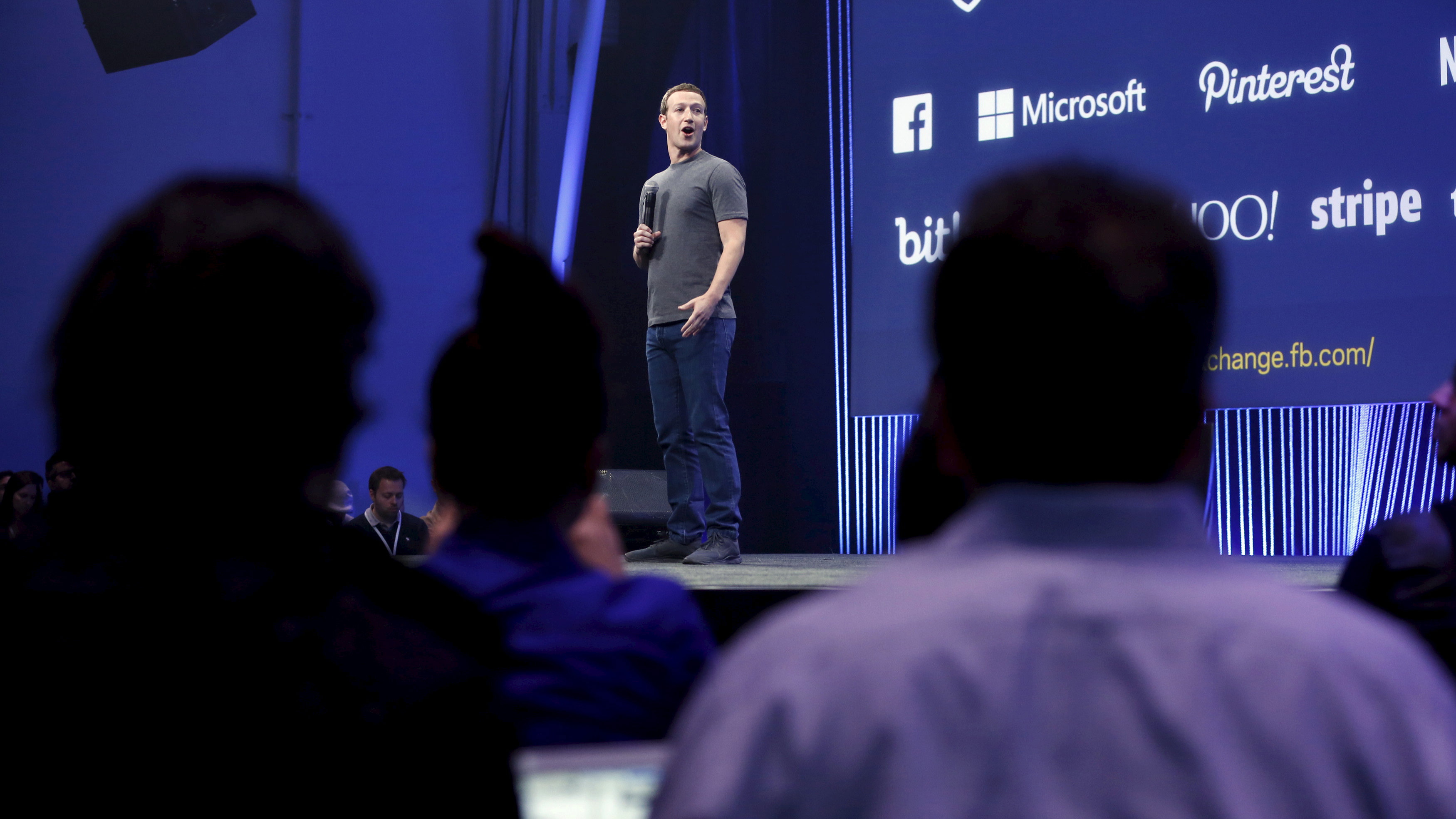 Facebook CEO Mark Zuckerberg speaks during his keynote address at Facebook F8 in San Francisco, California March 25, 2015.
