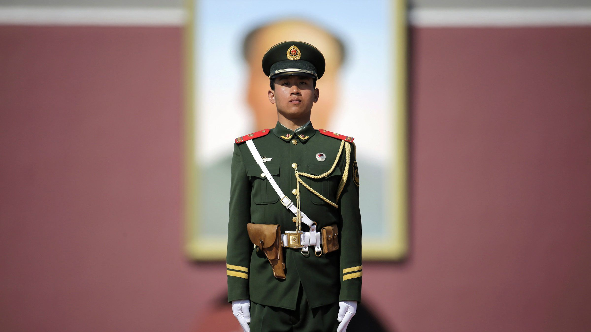 A PLA officer in Beijing