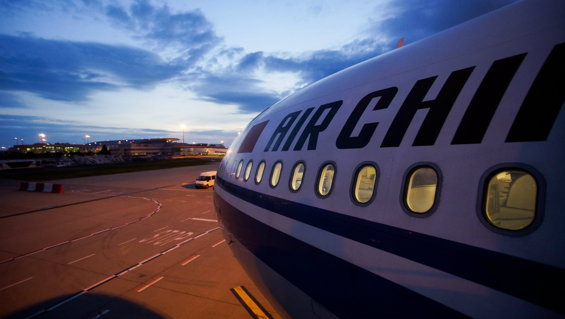 Air China on the tarmac