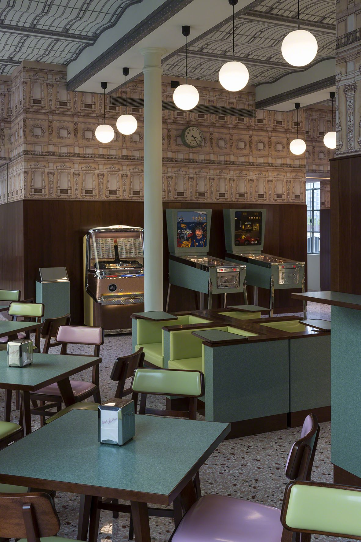 Bar Luce at the Fondazione Prada in Milan