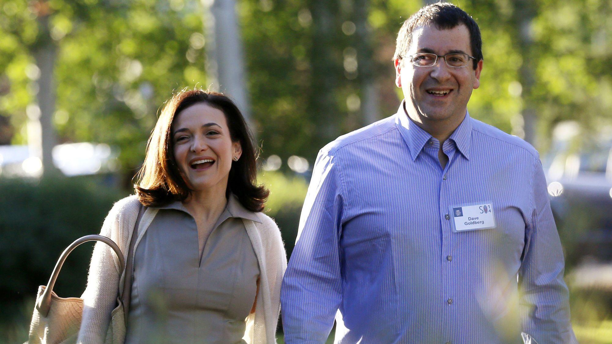 Sheryl Sandberg and Dave Goldberg in Sun Valley, Idaho in 2013.